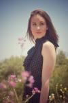 Girl with a polka dot dress