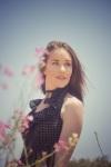 Girl with polka dot dress