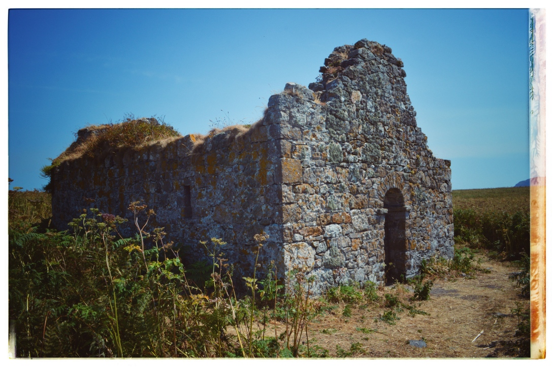Church ruins on an island in Howth Ireland