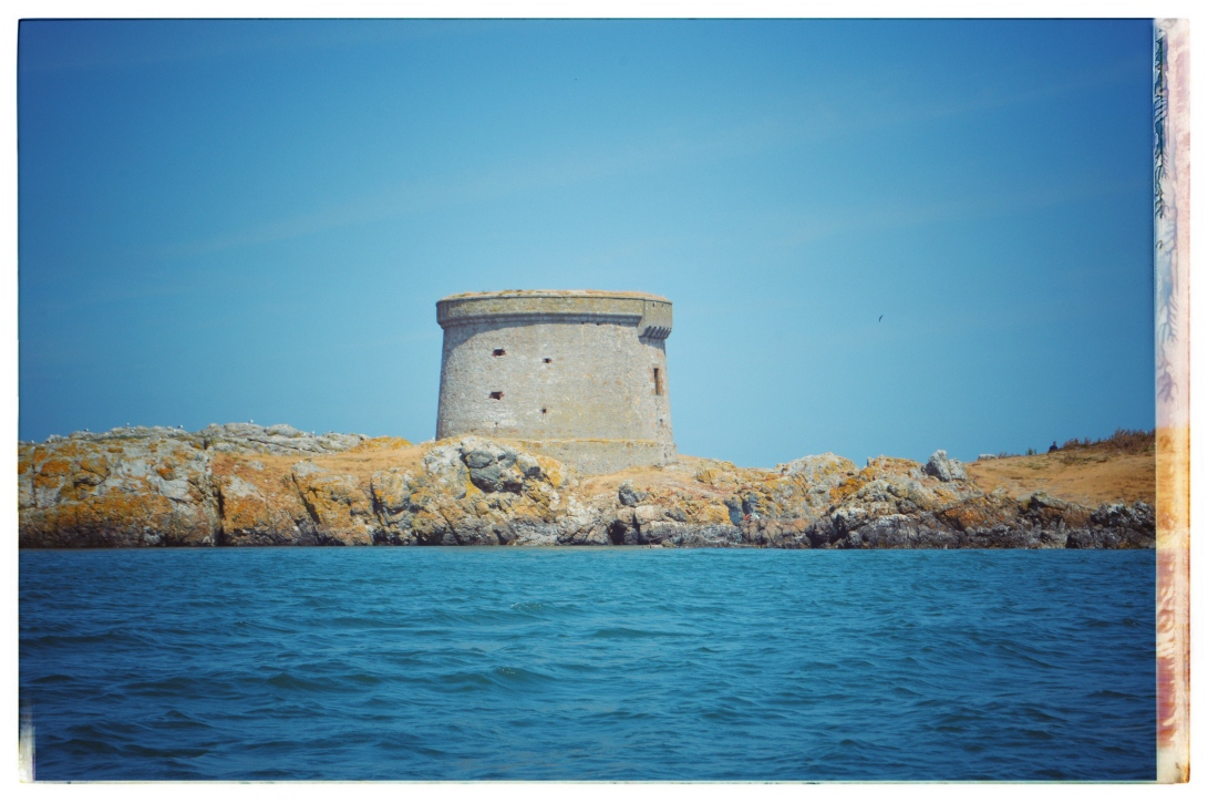 Tower on island in Howth Ireland