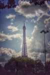Paris France europe travel adventure city landscape photography wanderlust Eiffel Tower clouds