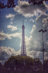 Paris France europe travel adventure city landscape photography wanderlust Eiffel Tower clouds
