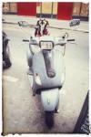 Paris France europe travel adventure city landscape photography wanderlust Montmartre Dog on a scooter