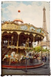 Paris France europe travel adventure city landscape photography wanderlust candid photos of people Eiffel Tower merry go round