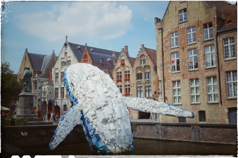 Belgium Bruges europe gothic buildings landscape photography cityscapes living with Rheumatoid Arthritis RA patient health traveling travel wanderlust adventure Plastic whale recycling