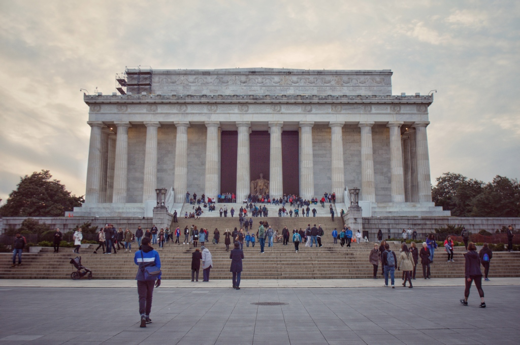 Lincoln Memorial Washington DC United States capital, sightseeing in Washington DC, historical building